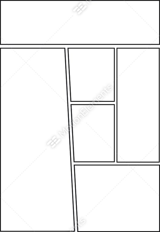 Comic Storyboard Template Layout Stock Vector 11753068