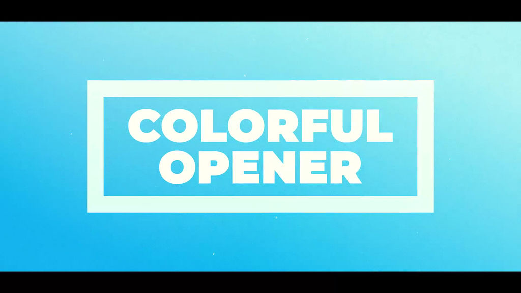 Colorful Opener Animationsvorlage