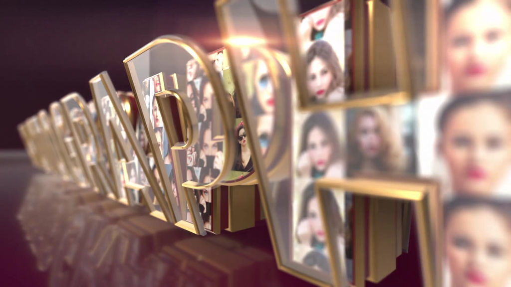 Elegant Logo Reveal Glass And Gold After Effects templates