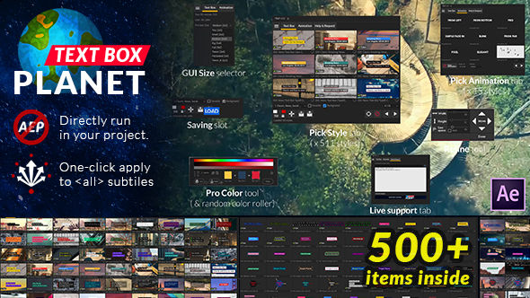 Text Box Planet V1 0 After Effects templates
