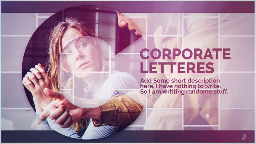Corporate Letters After Effects templates