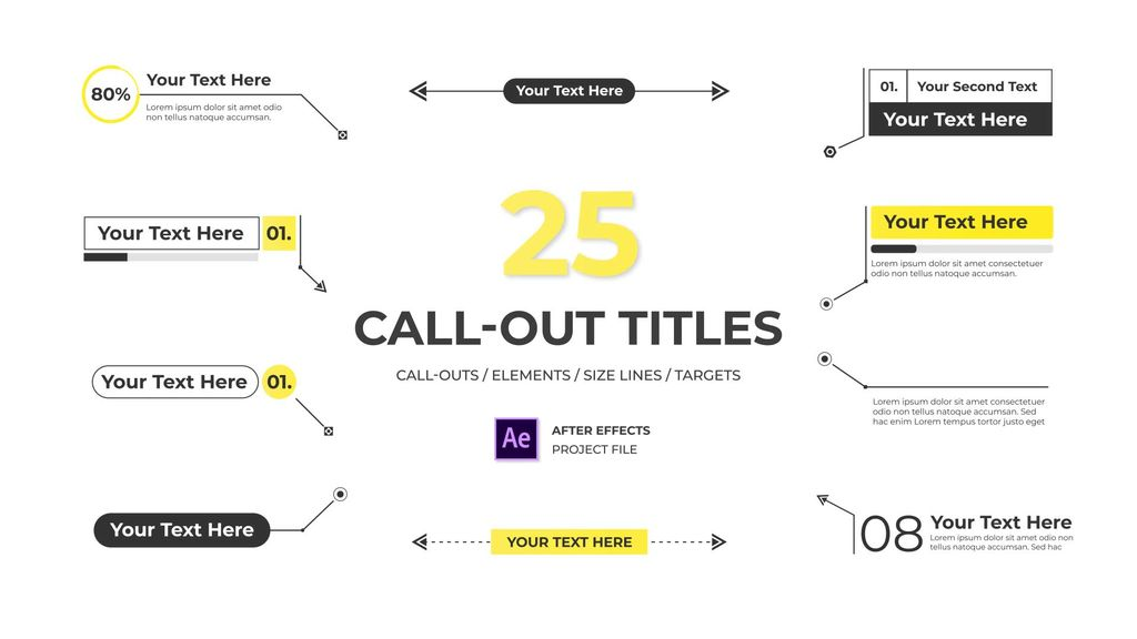 Modern Call Out Titles After Effects templates