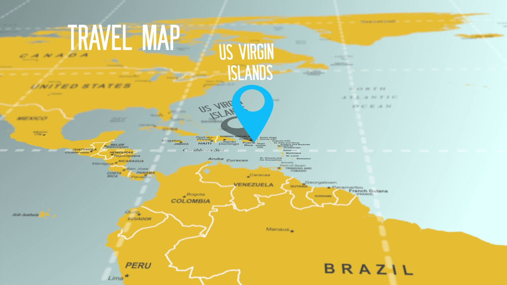 Travel Map Motion Graphics Template