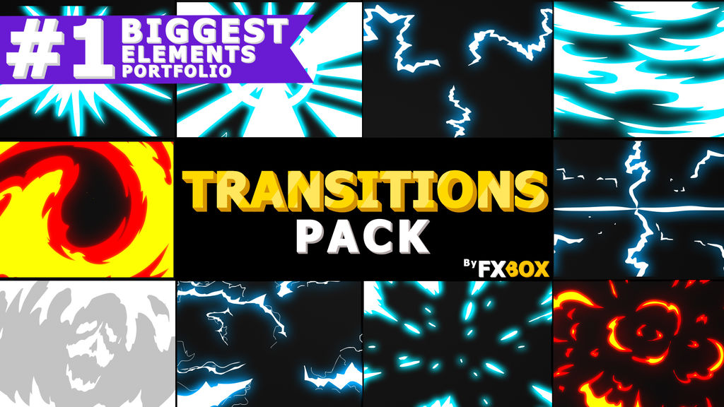 Dynamic Handy Transitions After Effects templates