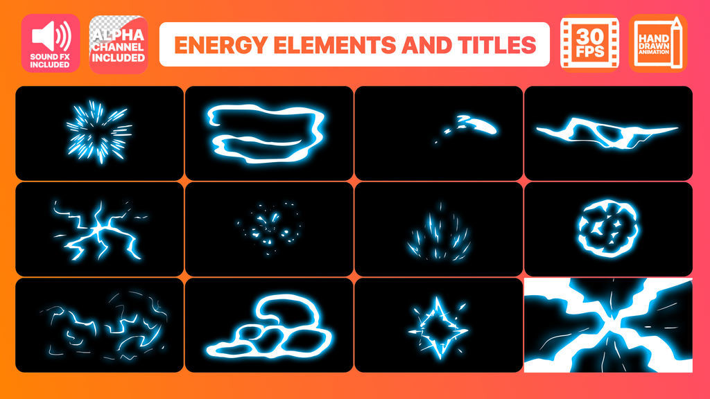 Energy Elements And Titles After Effects templates