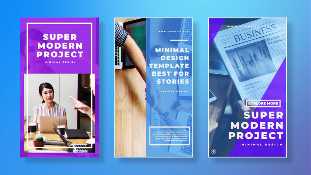 Business Instagram Stories After Effects templates