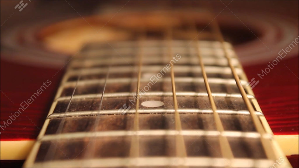 vibration of the strings acoustic guitar stock video footage 9238815. Black Bedroom Furniture Sets. Home Design Ideas