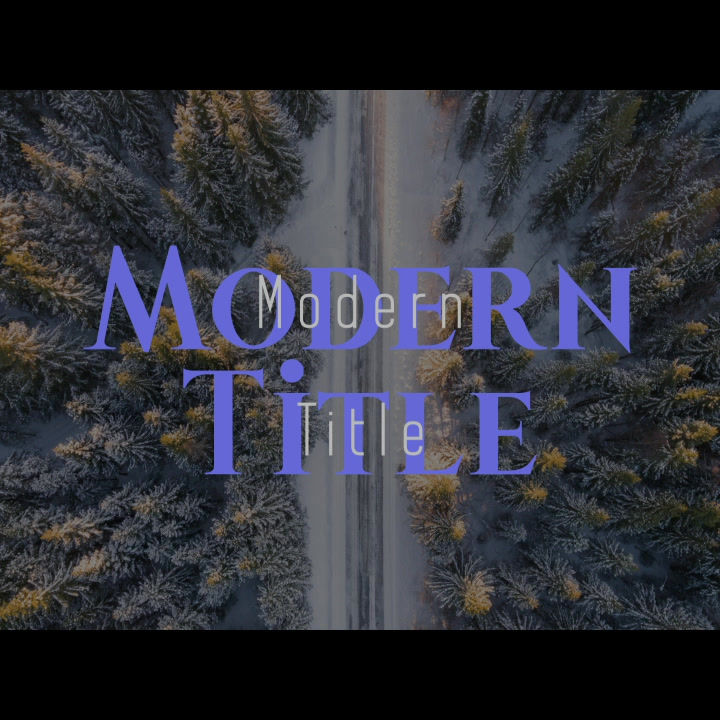 Modern Title After Effects templates