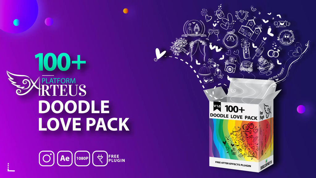 Doodle Love Pack After Effects templates