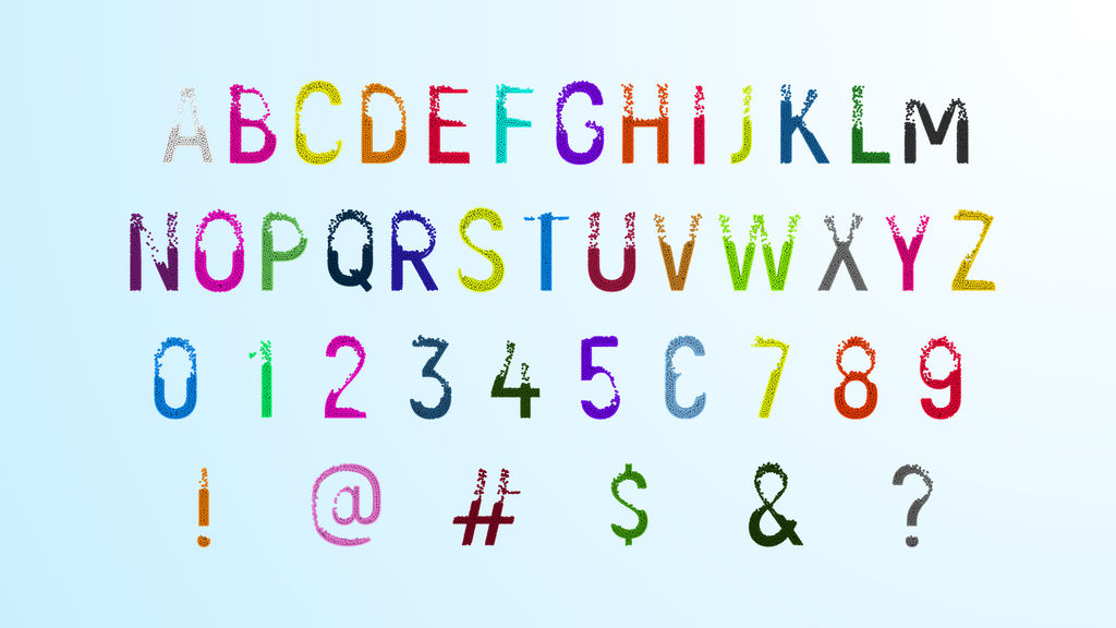 Physical Alphabet After Effects templates