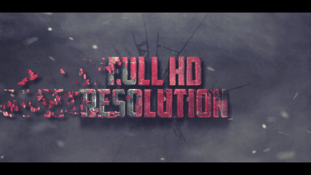 SHATTERED ACTION TEXT INTRO After Effects templates