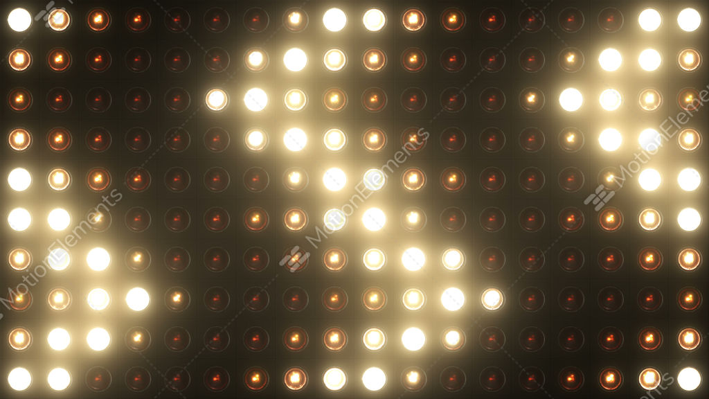 Flashing Lights Bulb Vj Wall Of Lights Stage 4k Stock