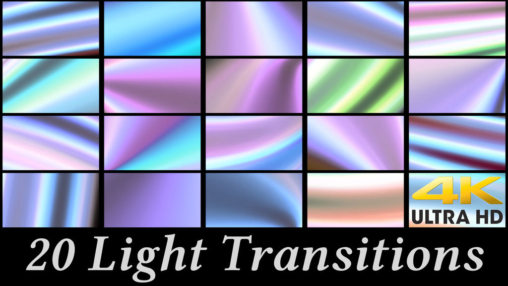 20 Light Transitions After Effects<wbr>テンプレート