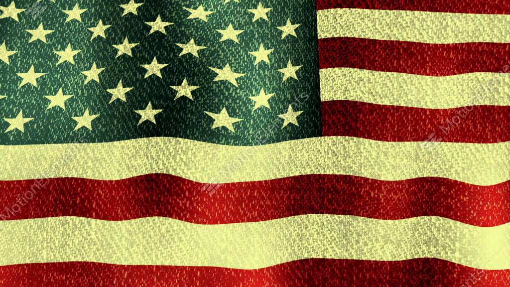 9491a2162f9 USA Flag Waving (Seamless Lopping Video