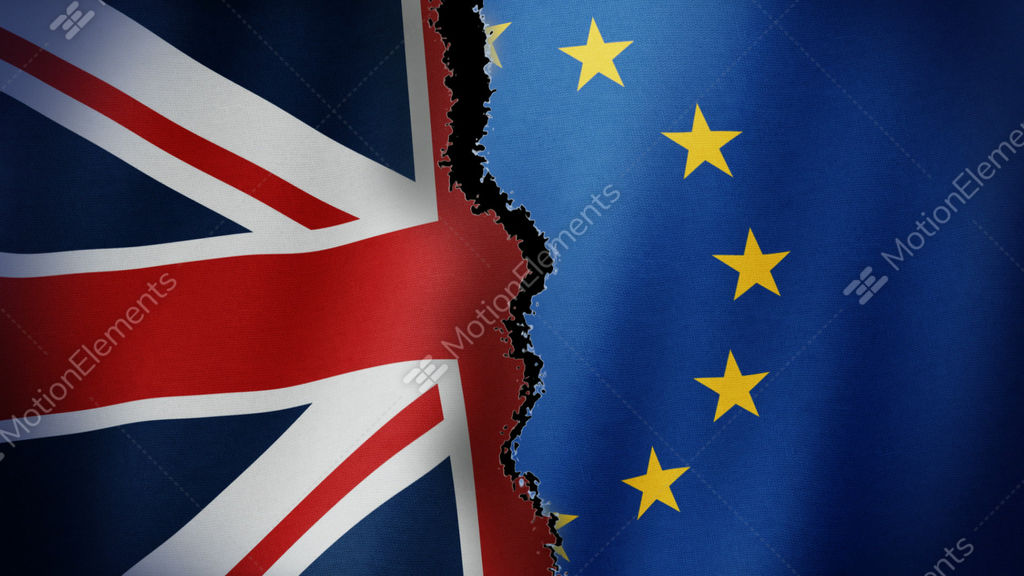 Brexit Flag Loop Stock Animation