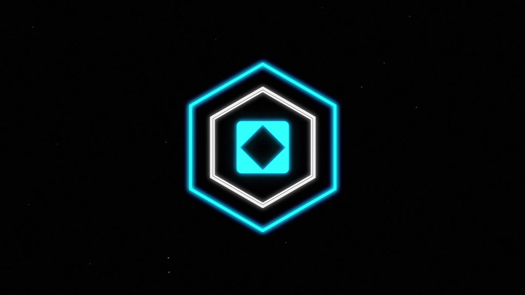 distort glitch hex logo reveal intro distorted video