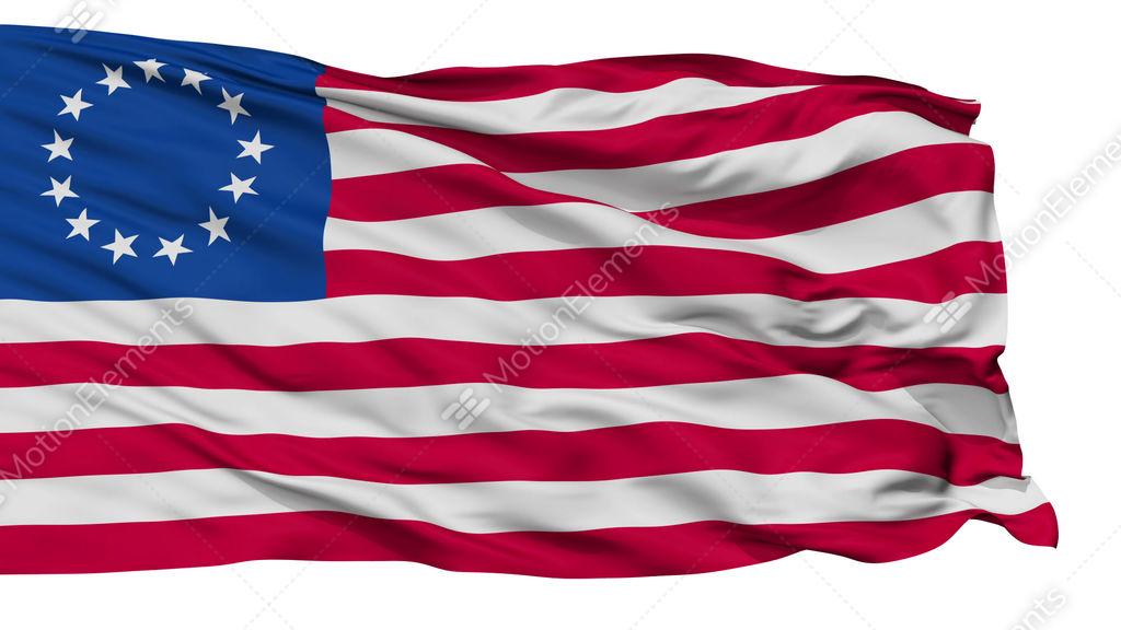 13 Stars Betsy Ross Usa Isolated Waving Flag Stock Animation 9368424