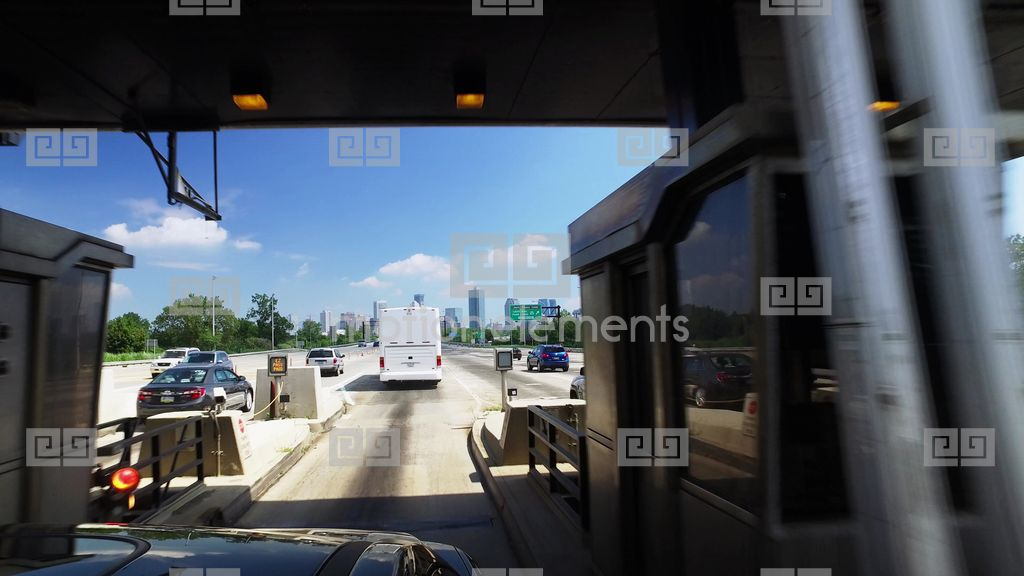 driving through new jersey turnpike toll plaza headed to manhattan stock video footage 9386098. Black Bedroom Furniture Sets. Home Design Ideas