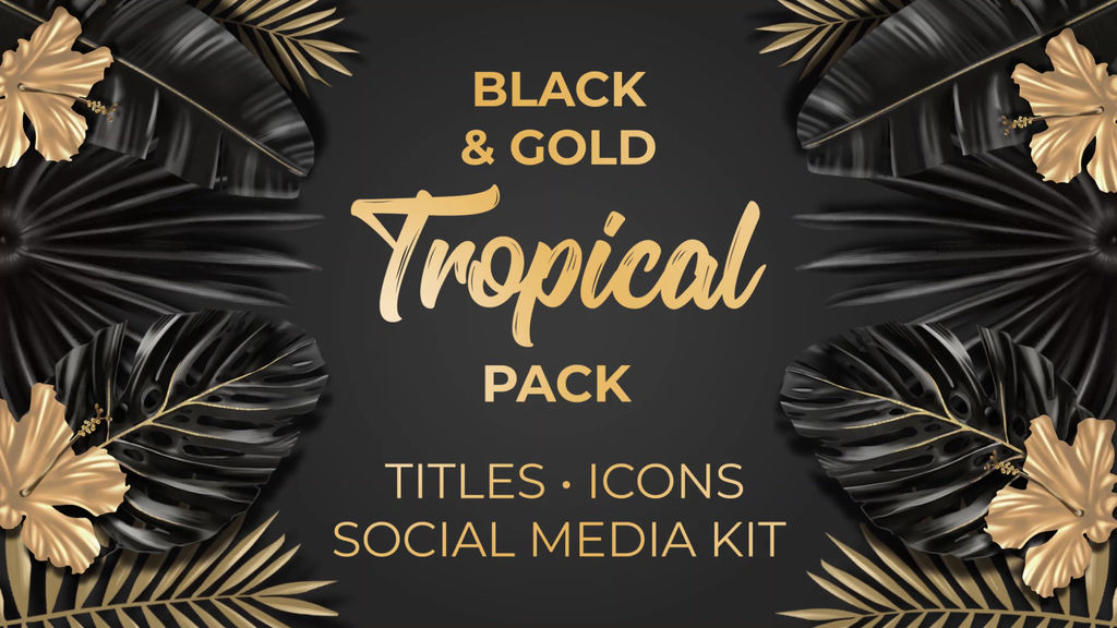 Black and Gold Tropical Pack
