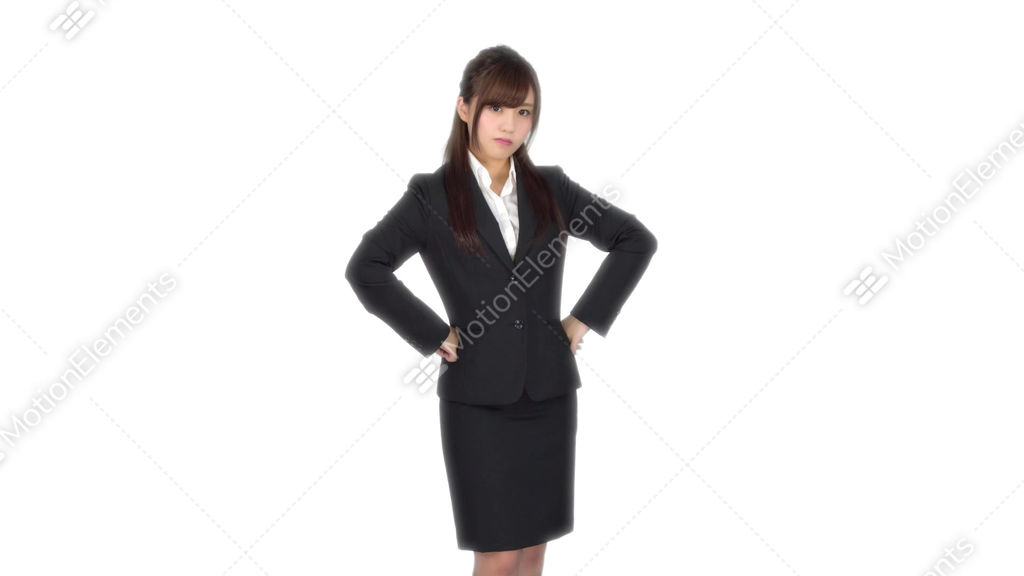 Angry Young Japanese Business Woman Stock Video Footage | 9452585