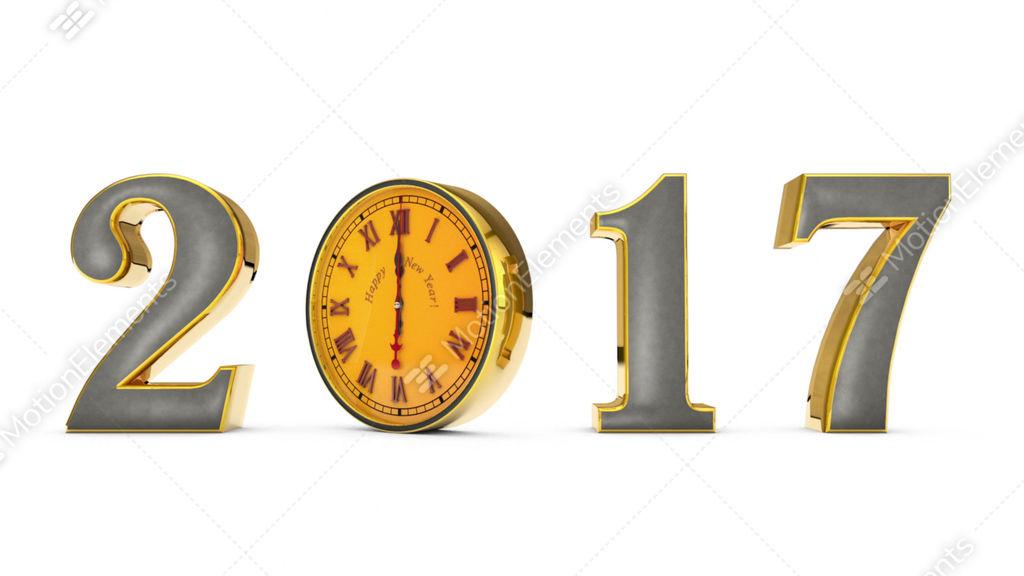 Happy New Year 2017 ... Clock, Midnight Stock Animation | 9481197