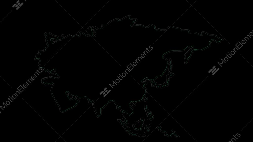 Asia Map Sketch Illustration Hand Drawn Animation Transparent - Us map sketch