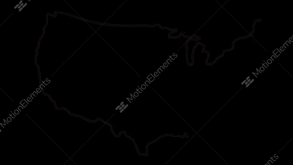 usa map sketch ilration hand drawn animation transparent stock video footage