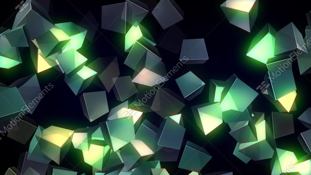 glowing cubes vj loop stock animation 9485298