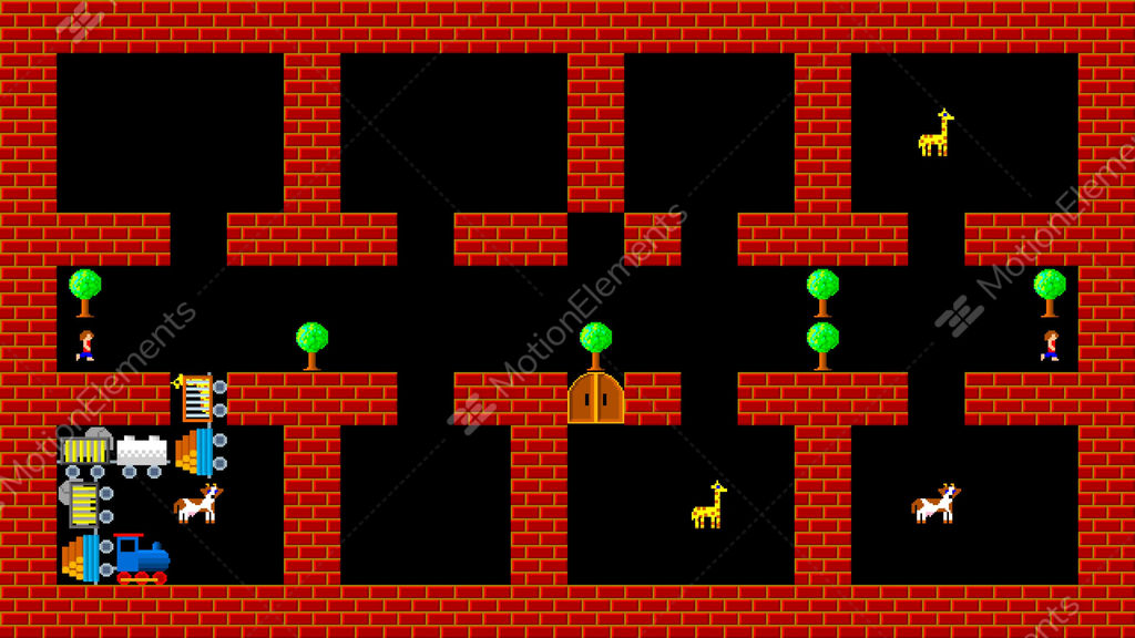 Train Puzzle, Retro Style Low Resolution Pixelated Game ...