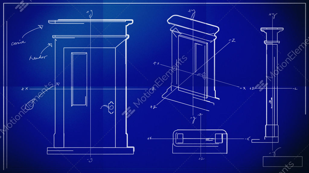 Door technical drawing blueprint time lapse stock animation 1576060 door technical drawing blueprint time lapse stock video footage malvernweather Image collections