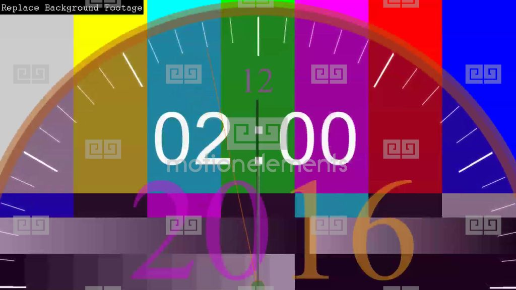 Happy New Year 2017 Countdown Timer Animation (AE Template) Stock ...