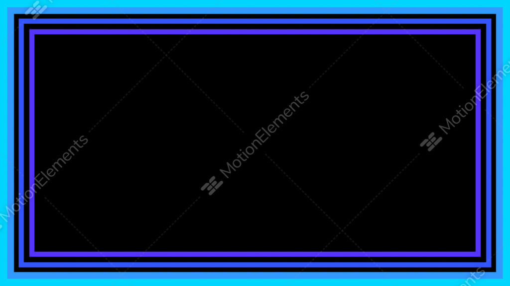 16beat-128bpm Outer Frame Blue Loop (QT PhotoJPEG) Stock Animation