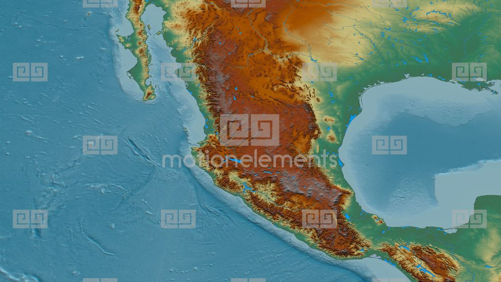 Sierra Madre Mountains On World Map.Revolution Around Sierra Madre Mountain Range Masks Relief Map