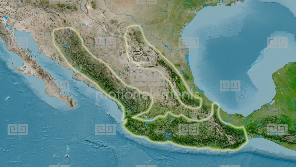 Sierra Madre Mountains On World Map.Zoom Into Sierra Madre Mountain Range Glowed Satellite Imagery