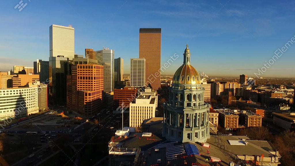 Denver Colorado Downtown City Skyline Capital Building