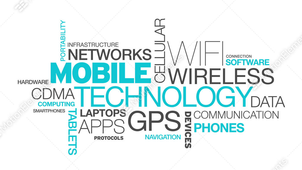 word technology cloud mobile animation animated