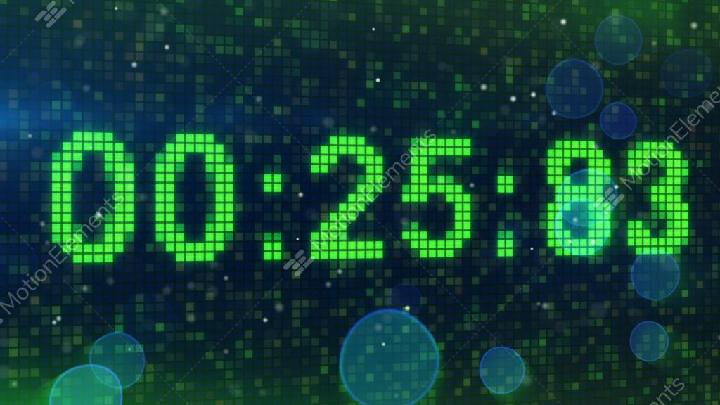Countdown Digital Timer Animation Stock Animation 2195992