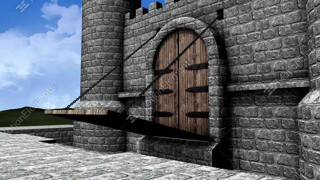 Castle Drawbridge Stock Animation