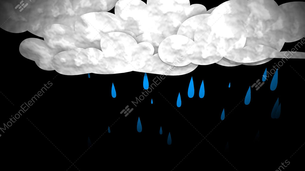 Rain Cloud Stock Animation | 2970432