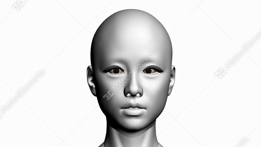 Rotation Of 3D Woman Head Face.female,girl,human,anatomy,medical ...