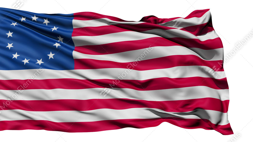 united states betsy ross flag stock animation 620627