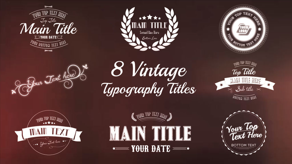 final cut pro wedding templates - vintage typography titles package apple motion and final