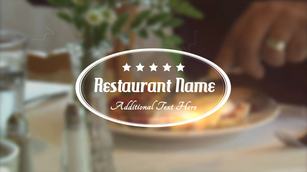 Restaurant title apple motion and final cut pro x for Final cut pro wedding templates