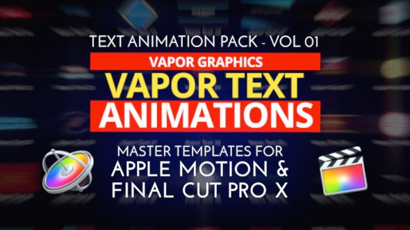 52 text animations for apple motion and final cut pro x for Final cut pro wedding templates