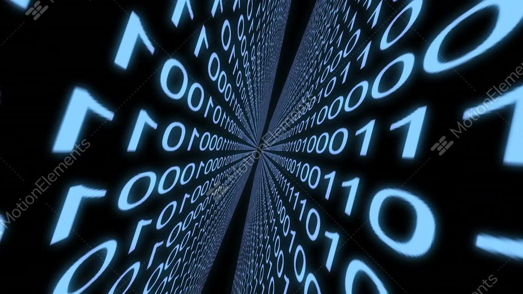 Zoom Digital World Binary Computer Data Code Cyberspace Graphic
